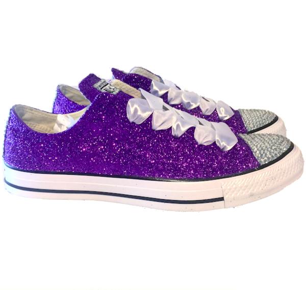 purple wedding shoes for bride photo - 1