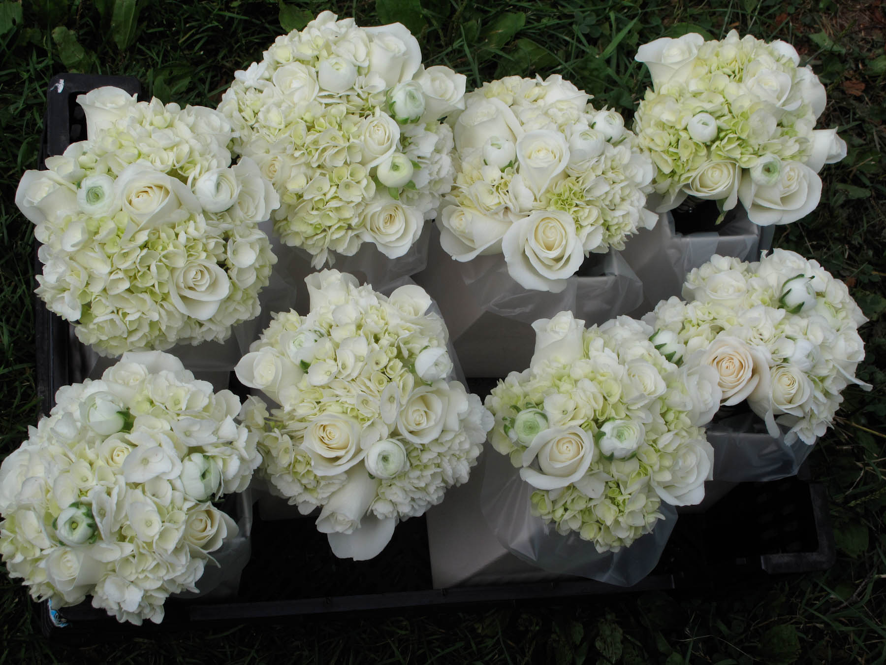 ranunculus wedding bouquet photo - 1