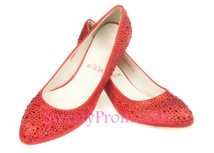 red rhinestone wedding shoes photo - 1