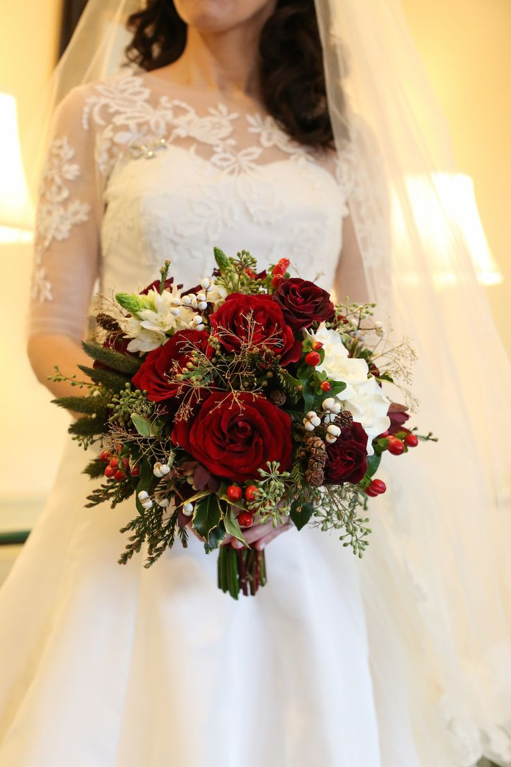red wedding bouquets ideas photo - 1