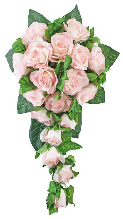 silk cascade wedding bouquets photo - 1