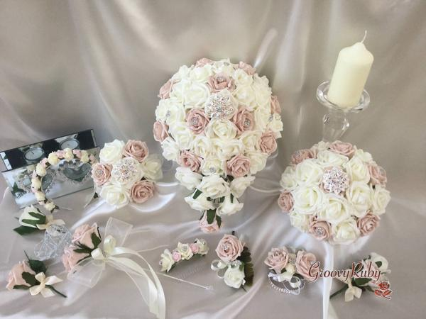 silk flowers for wedding photo - 1