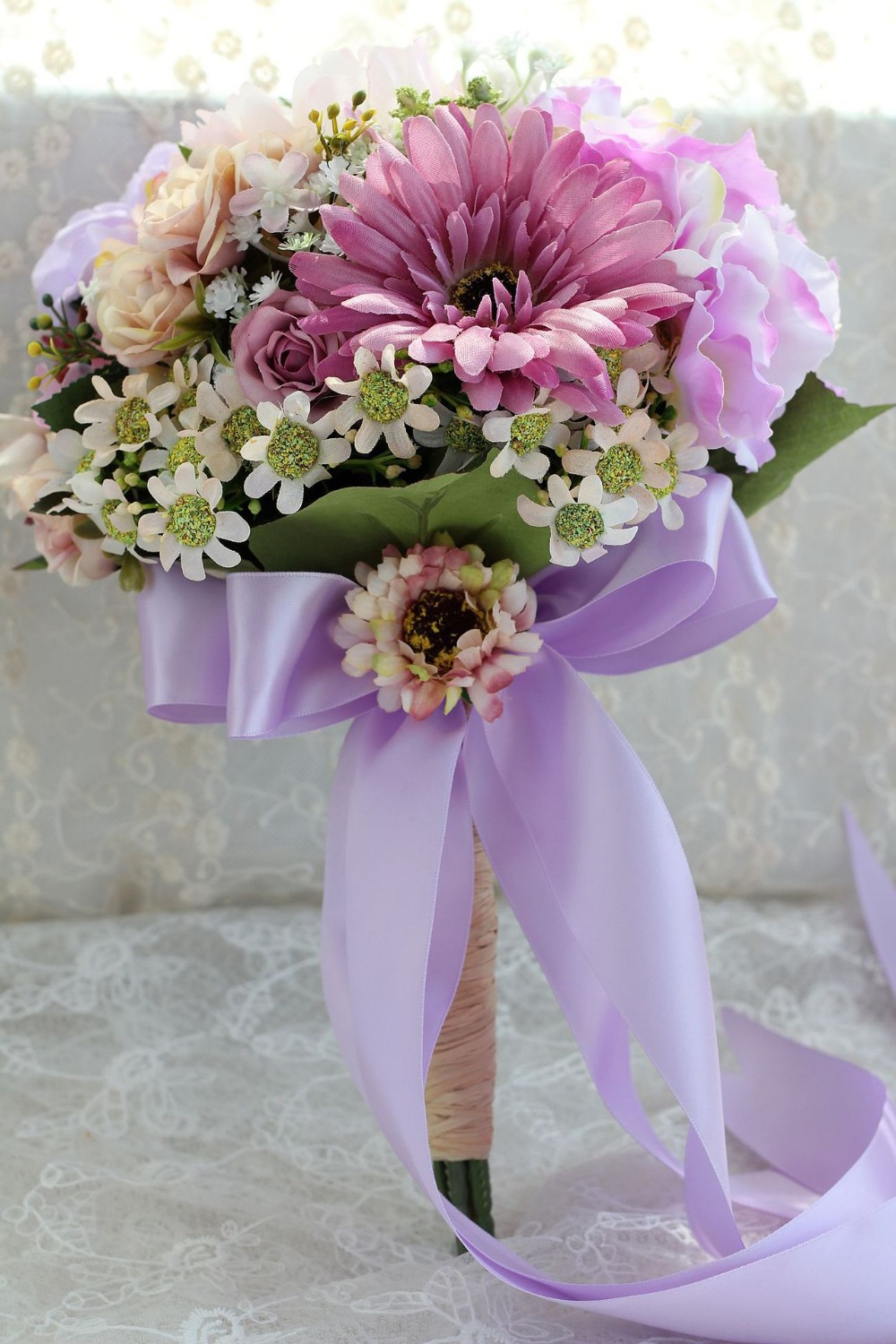 silk flowers for wedding bouquets cheap photo - 1