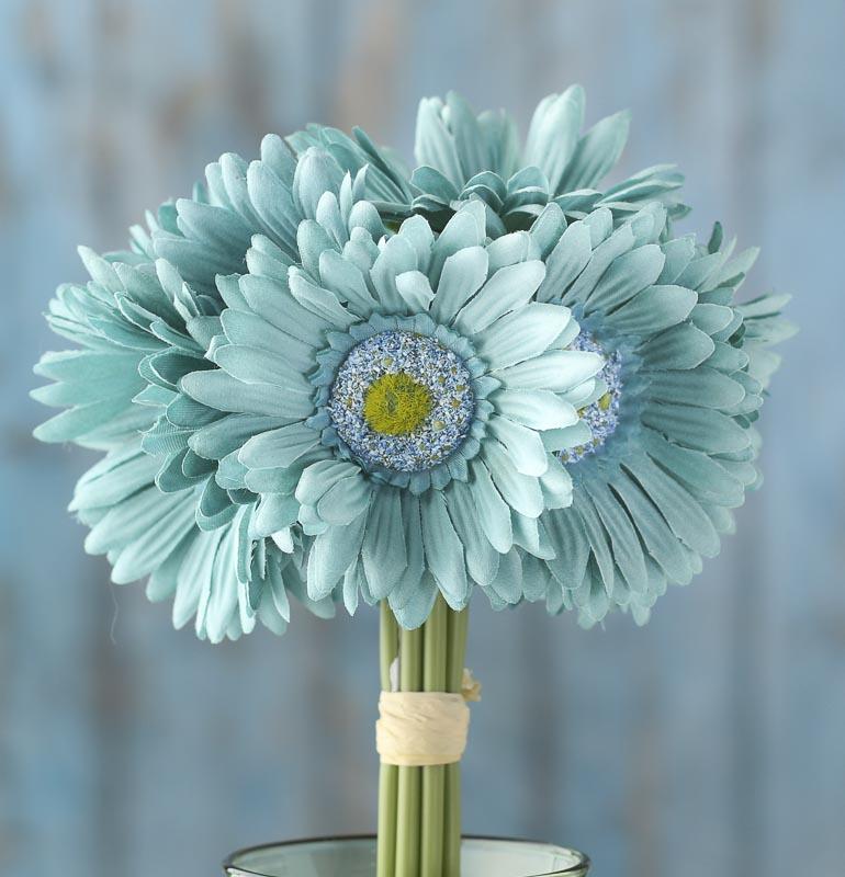 silk gerbera daisy wedding bouquets photo - 1