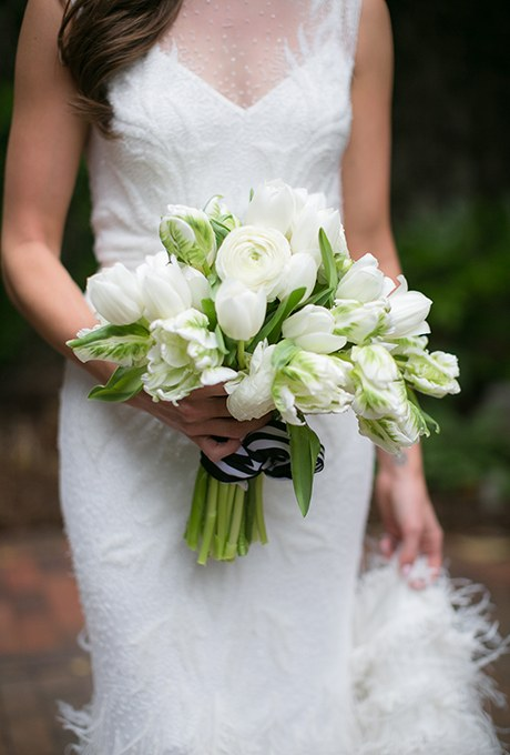 silk tulip wedding bouquets photo - 1