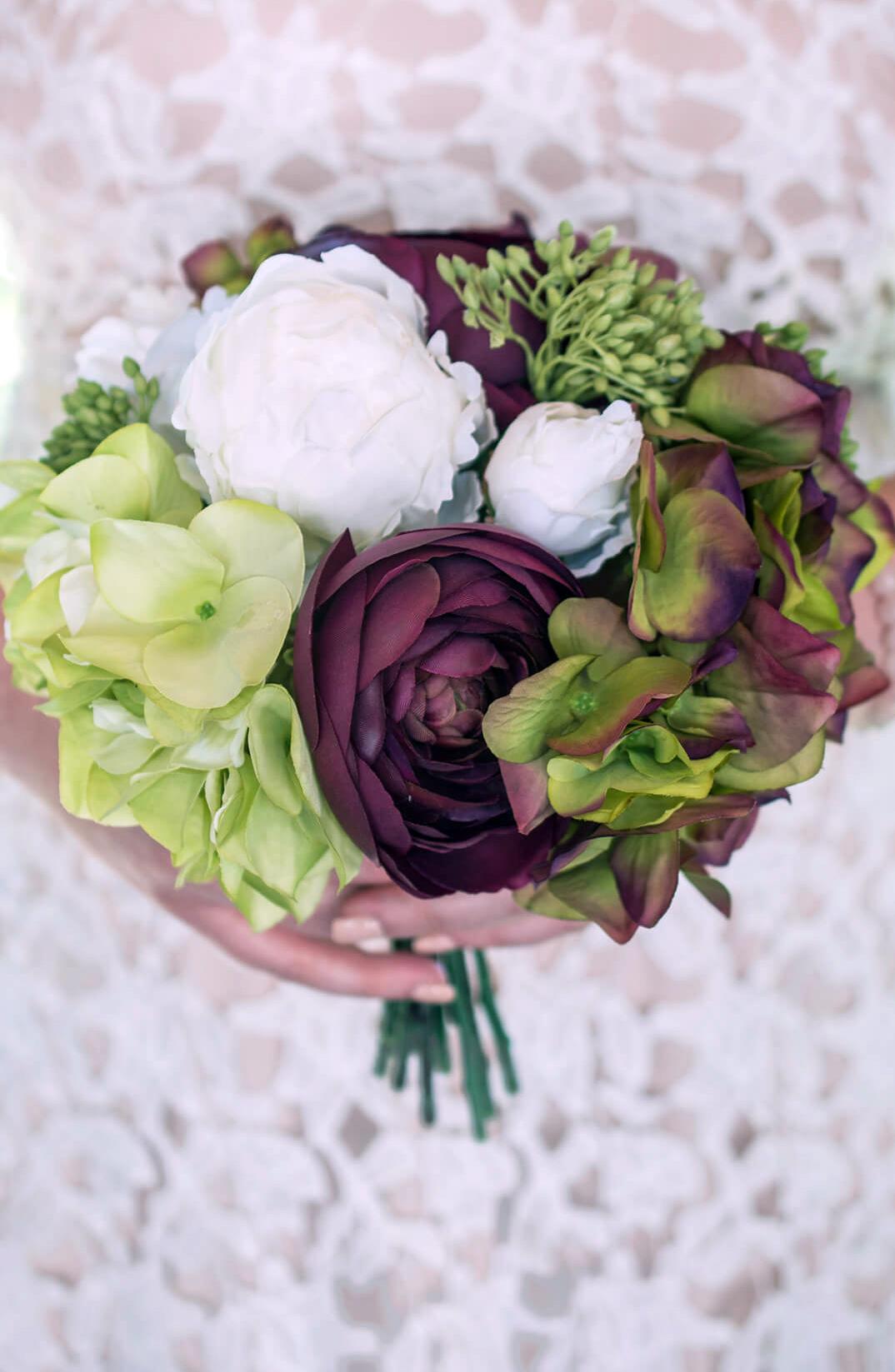silk wedding bouquets photo - 1
