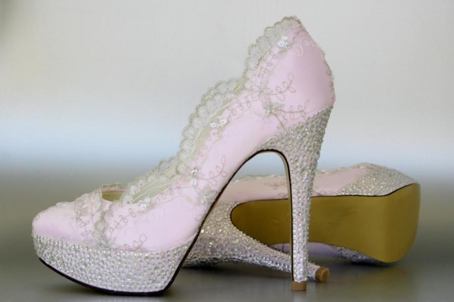 silver bridal shoes photo - 1