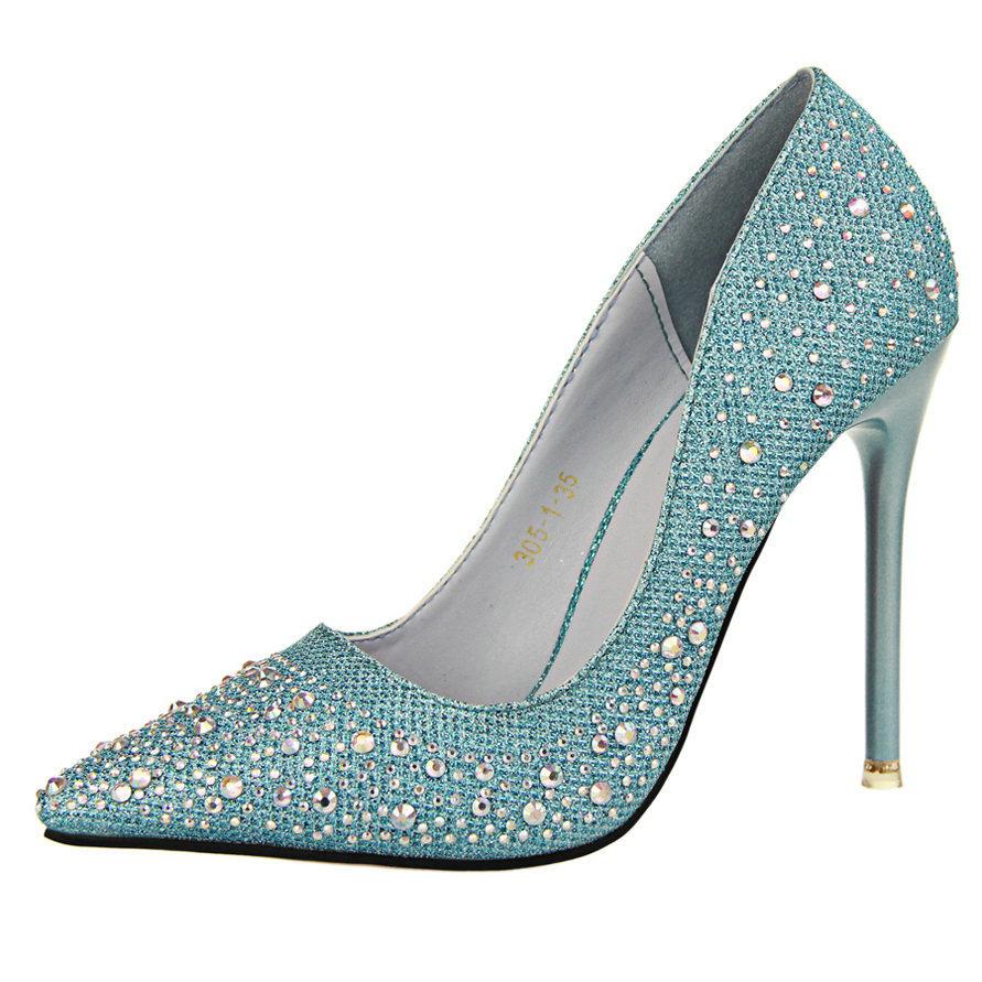 silver rhinestone wedding shoes photo - 1