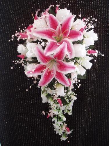 stargazer lily wedding bouquet photo - 1