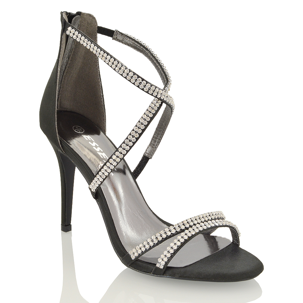 strappy bridal shoes photo - 1