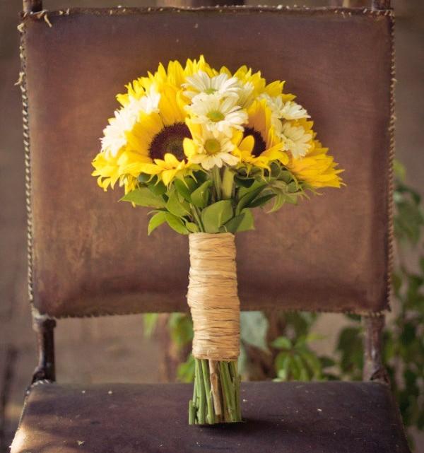 sunflower wedding bouquets photo - 1