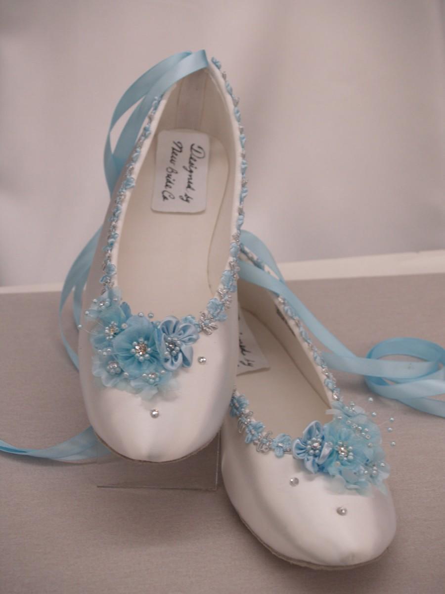 tiffany blue bridal shoes photo - 1