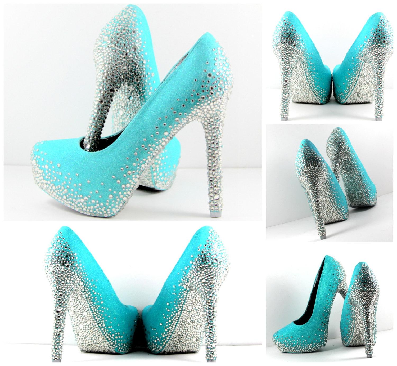 turquoise wedding shoes photo - 1