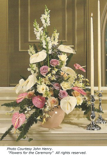 wedding alter flowers photo - 1