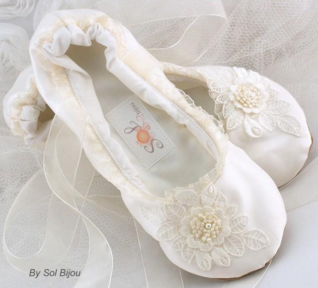wedding ballerinas shoes photo - 1
