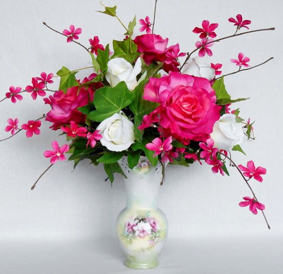 wedding bouquet holder for silk flowers photo - 1