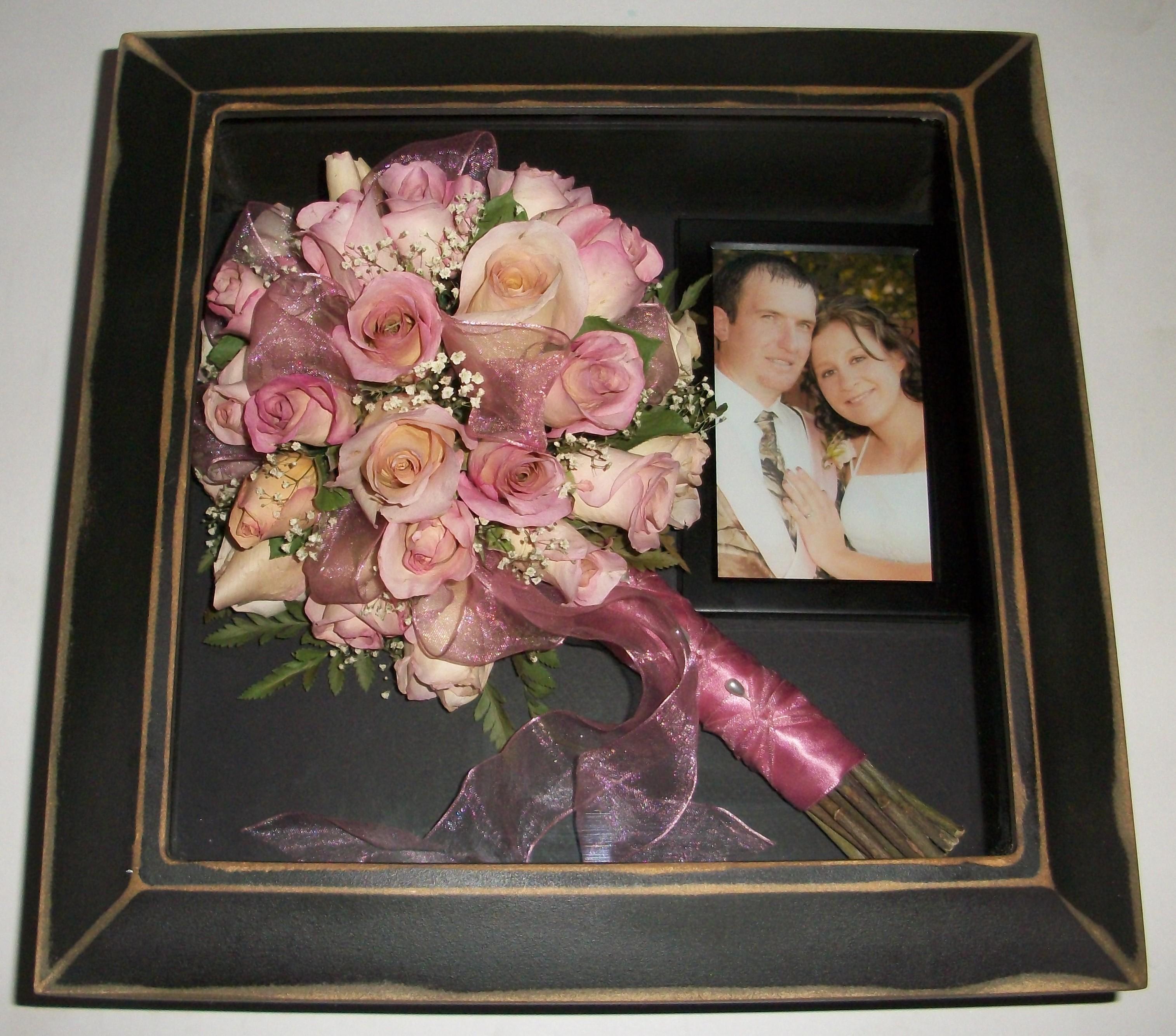 wedding bouquet shadow box photo - 1