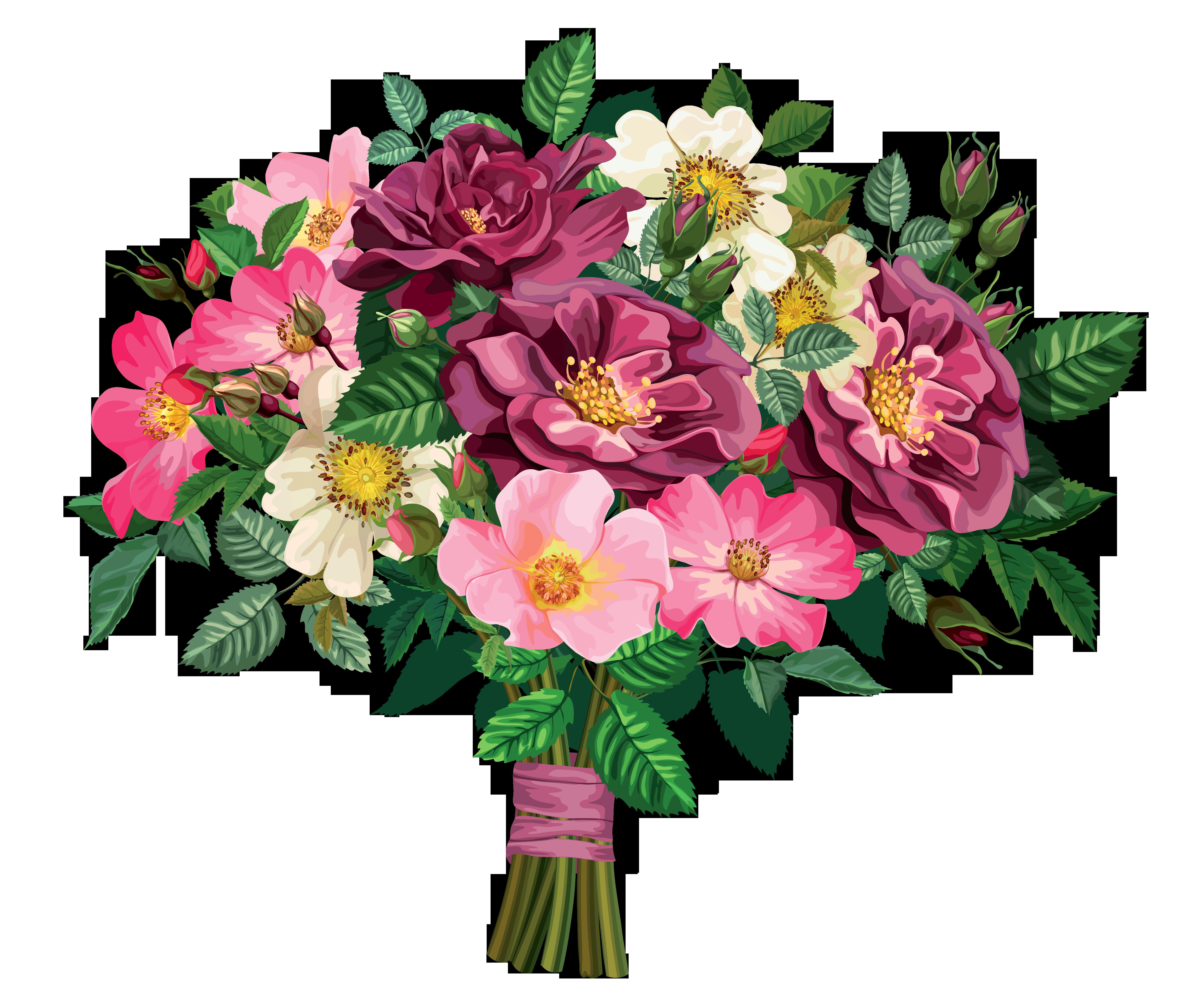 wedding bouquets clipart photo - 1