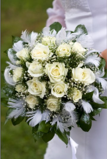 wedding bouquets feathers photo - 1