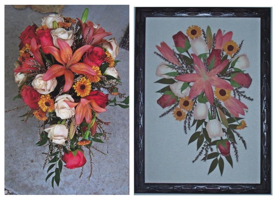 wedding bouquets framed photo - 1