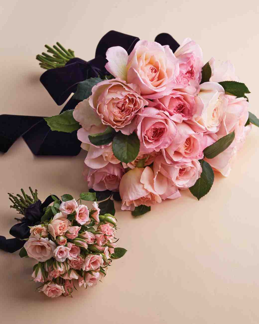 wedding bouquets pink roses photo - 1