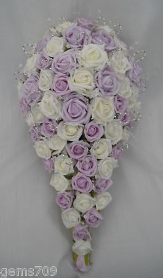 wedding bouquets purple and blue photo - 1