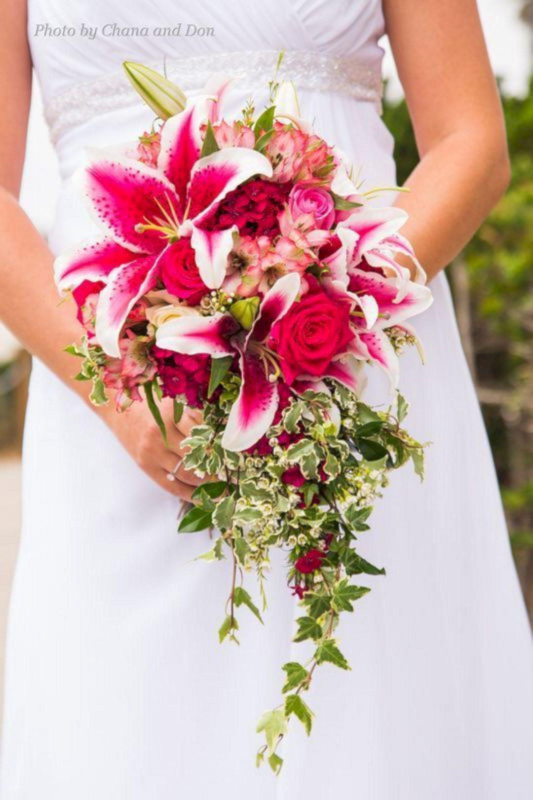 wedding bouquets stargazer lilies photo - 1