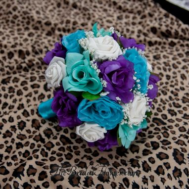 wedding bouquets teal photo - 1