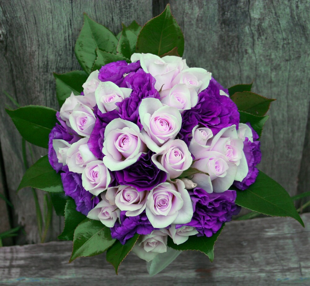 wedding bouquets with purple flowers photo - 1