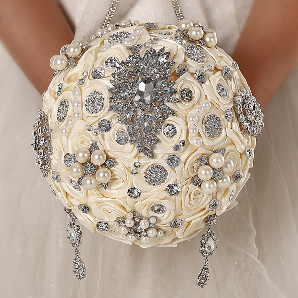 wedding brooch bouquets for sale photo - 1