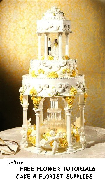 wedding cake toppers flowers photo - 1