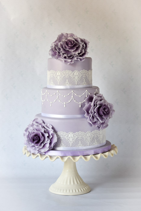 wedding cakes with real flowers photo - 1