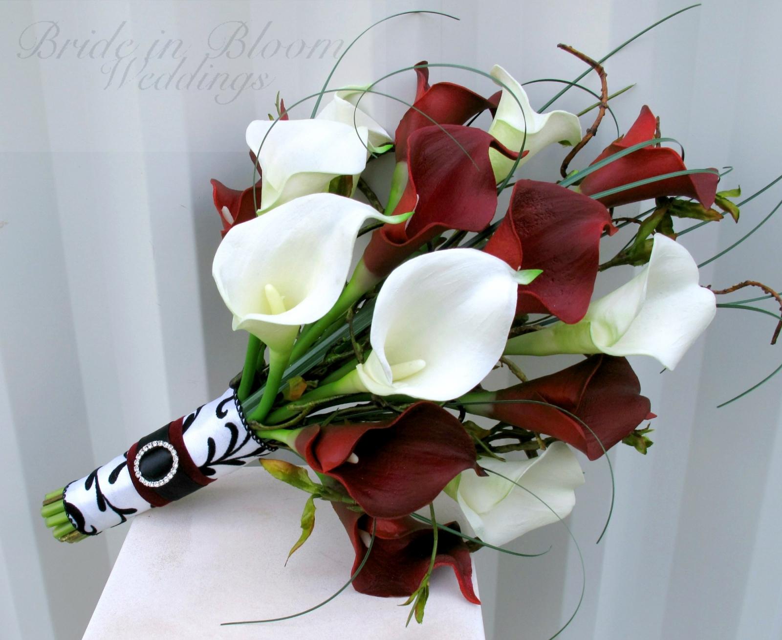 wedding calla lily bouquets photo - 1