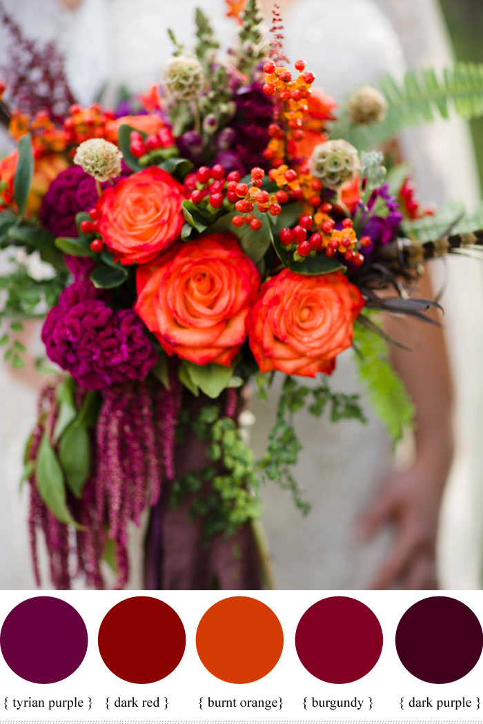 wedding flowers fall colors photo - 1