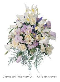 wedding flowers in hair photo - 1
