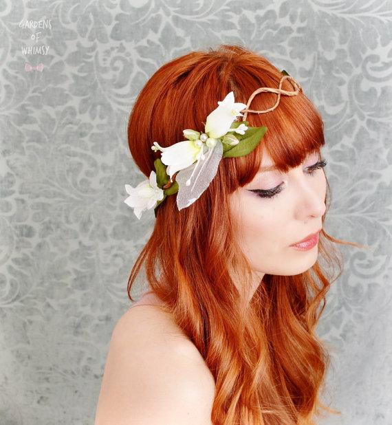 wedding hair flower photo - 1