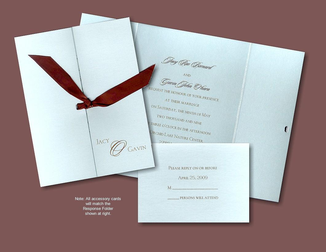 wedding invitations with flowers photo - 1