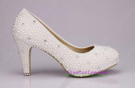 wedding shoes 3 inch heels photo - 1