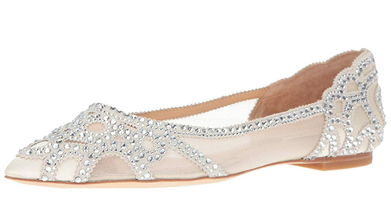 wedding shoes for bride flat photo - 1