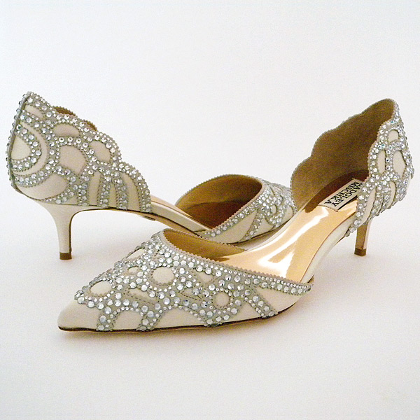 wedding shoes low heel photo - 1