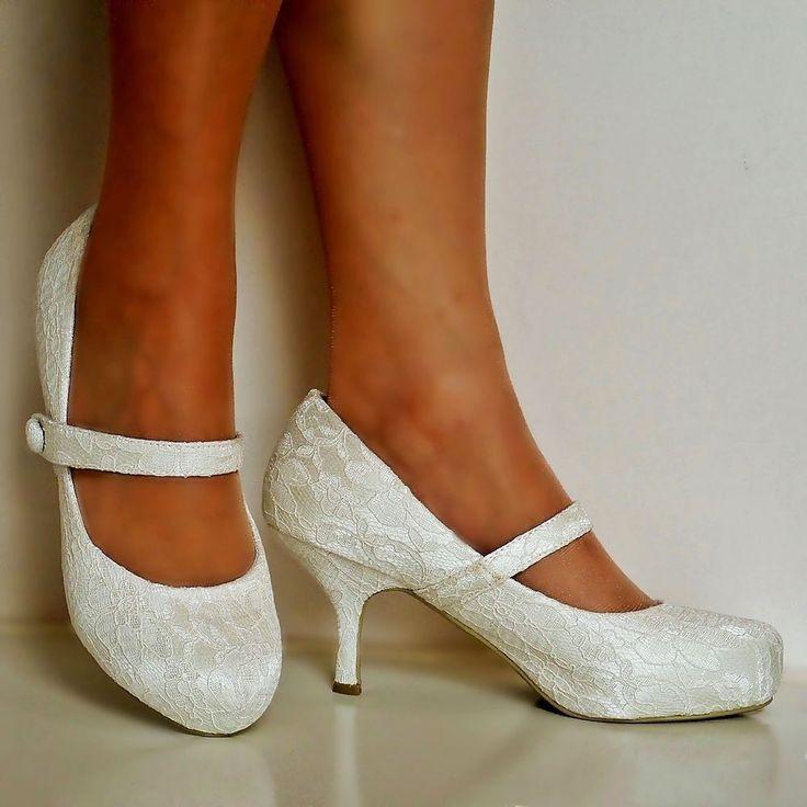 wedding shoes mid heel photo - 1