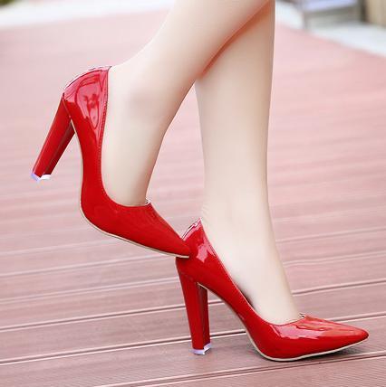 wedding shoes thick heel photo - 1