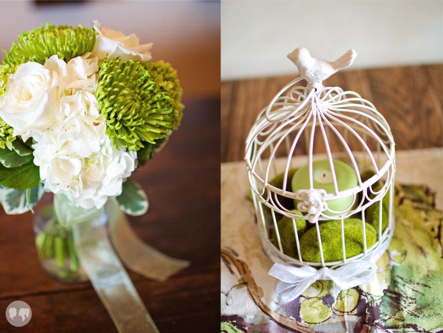 wedding table flower centerpieces photo - 1