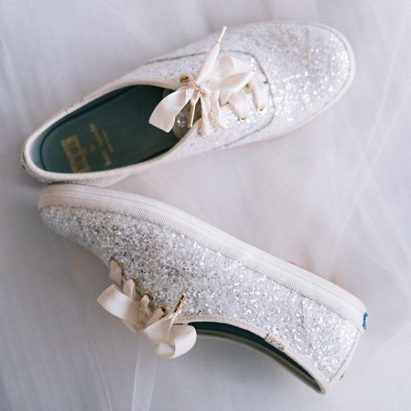 wedding tennis shoes bridal photo - 1