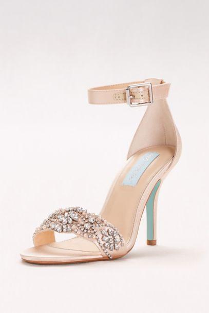 white strappy wedding shoes photo - 1