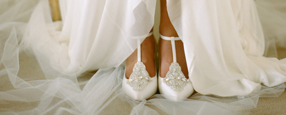 white wedding shoes for the bride photo - 1