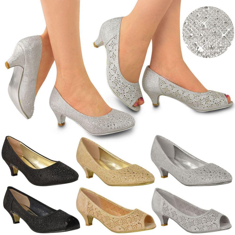 white wedding shoes low heel photo - 1