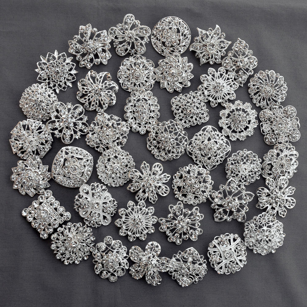 wholesale brooches for wedding bouquets photo - 1