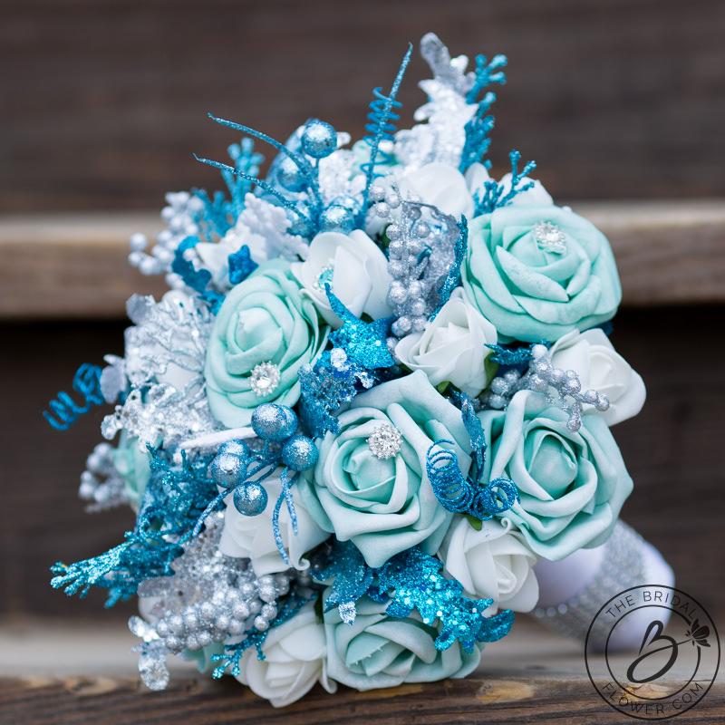winter wonderland wedding bouquets photo - 1