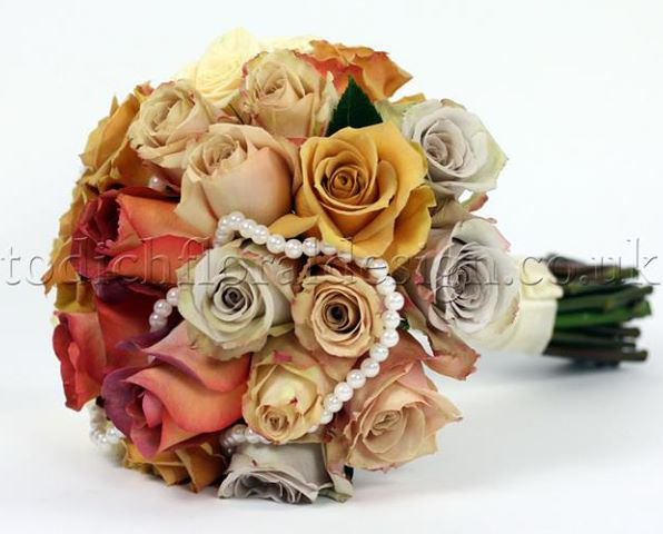 yellow and gray wedding bouquets photo - 1